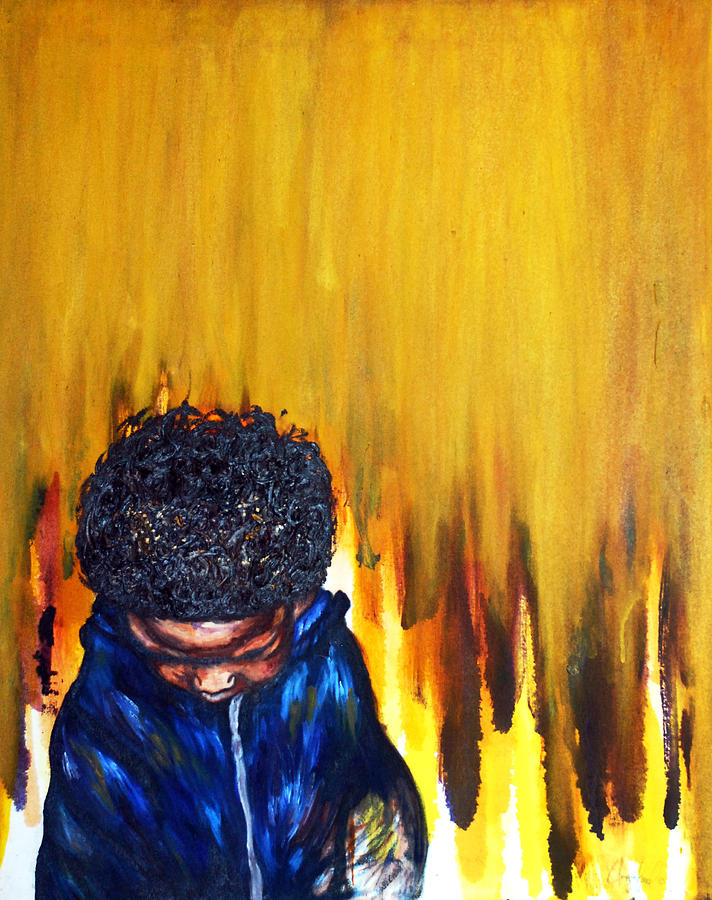 African American Art Painting - Ive Been Beautiful From The Beginning2 by Angie  Redmond Artist