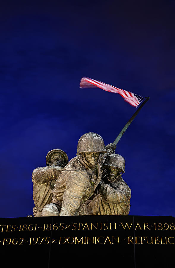 Metro Photograph - Iwo Jima Memorial Front View by Metro DC Photography