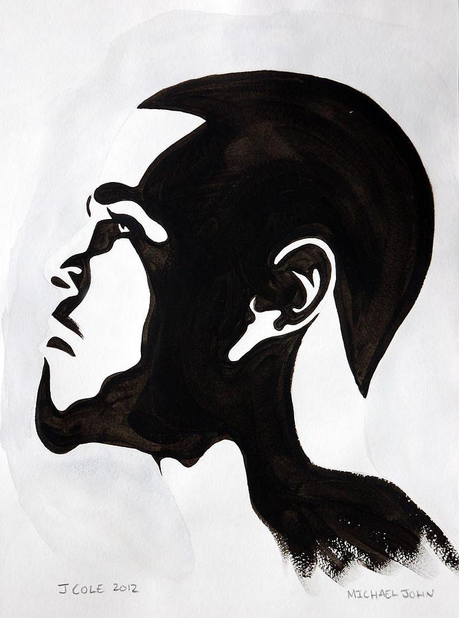Rapper Painting - J. Cole by Michael Ringwalt