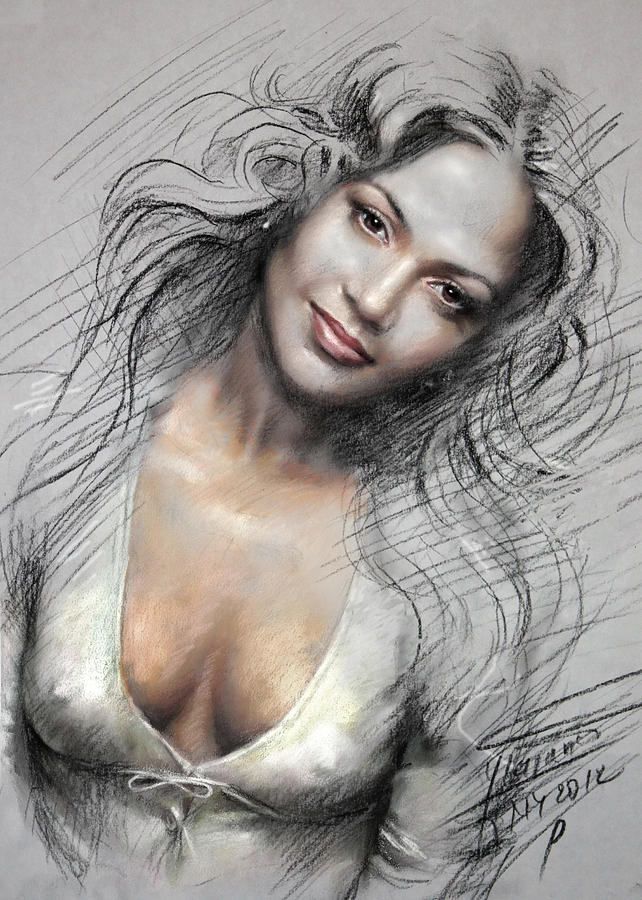 J L0 Drawing By Ylli Haruni