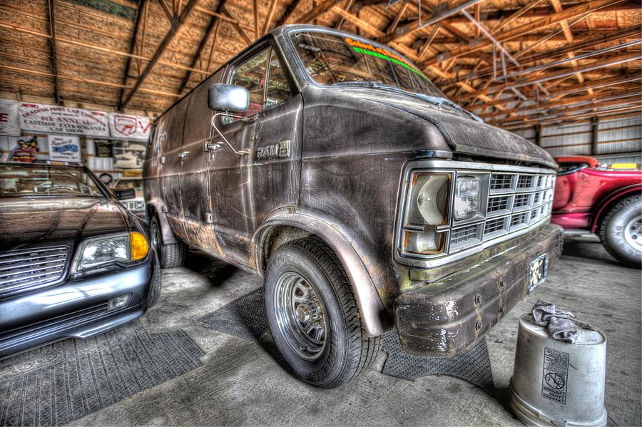 Port Huron Photograph - Jack Blacks School Of Rock Van by Nicholas  Grunas