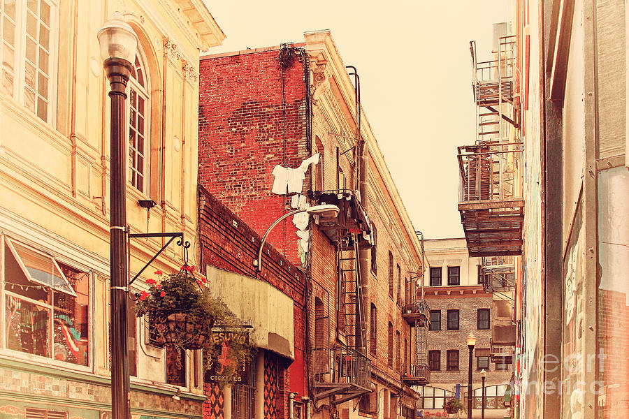 Retro Photograph - Jack Kerouac Street San Francisco . 7d7437 by Wingsdomain Art and Photography