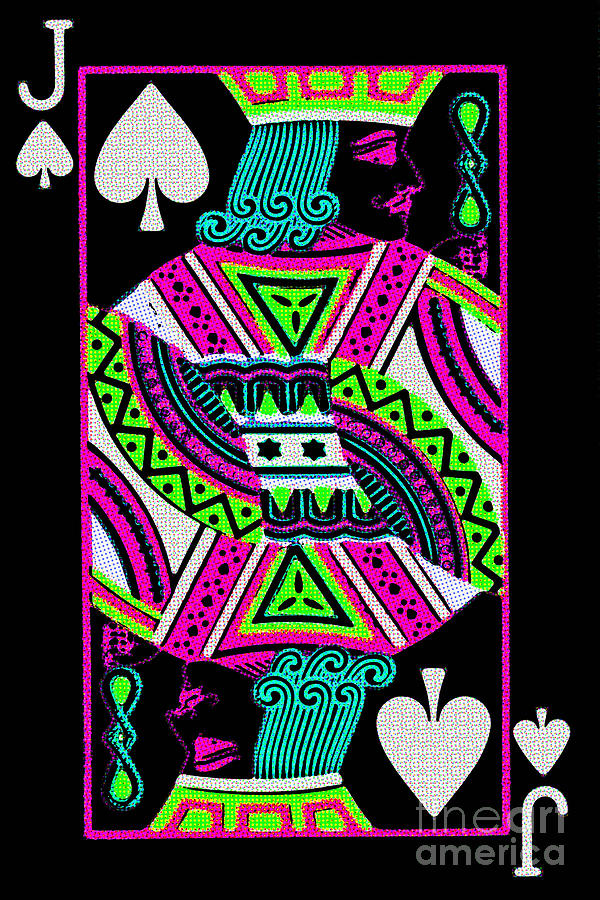 Card Photograph - Jack Of Spades by Wingsdomain Art and Photography