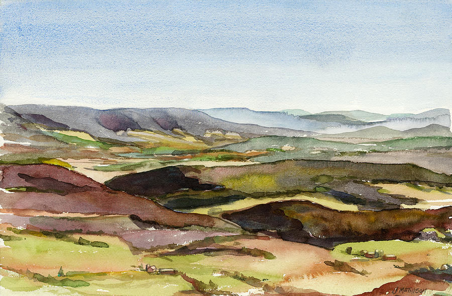 Plein Air Painting - Jacks Mountain View by Jeff Mathison