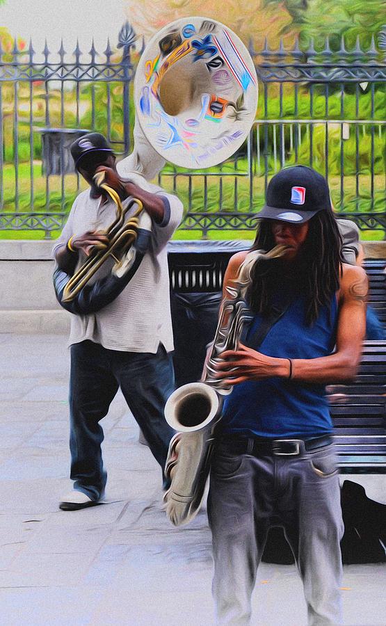 Jackson Photograph - Jackson Square Jazz by Bill Cannon
