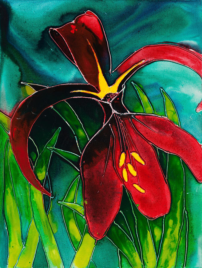 Lily Painting - Jacobean Lily by Carol McLagan