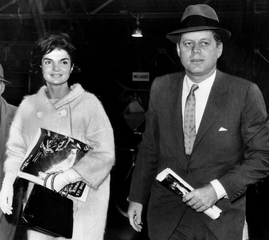 1960s Photograph - Jacqueline Kennedy And John F. Kennedy by Everett