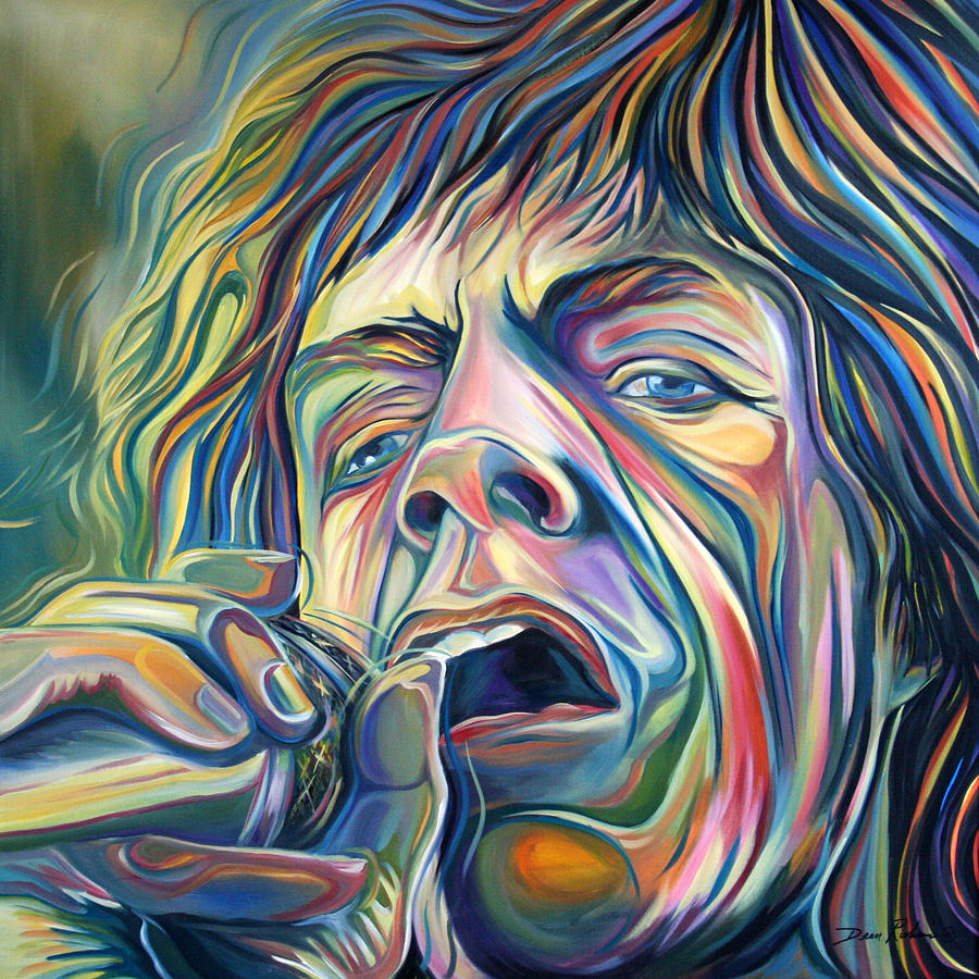 Mick Jagger Painting - Jagger by Redlime Art