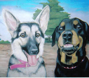 Dogs Pastel - Jake And Daisy by Joyce Hayes