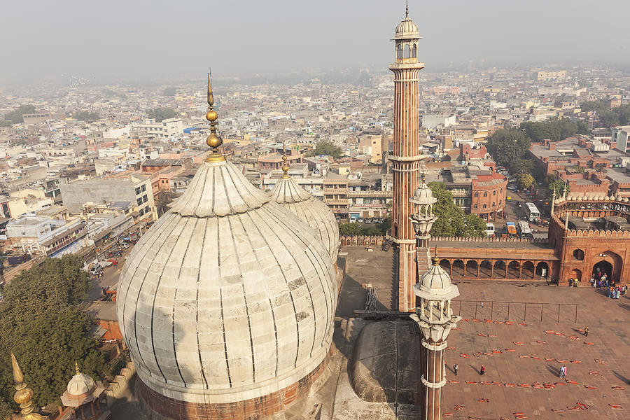 Jama Masjid Mosque In Old Delhi, India Photograph by Peter Adams