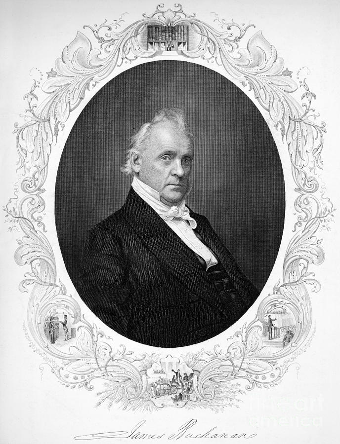 19th Century Photograph - James Buchanan (1791-1968) by Granger
