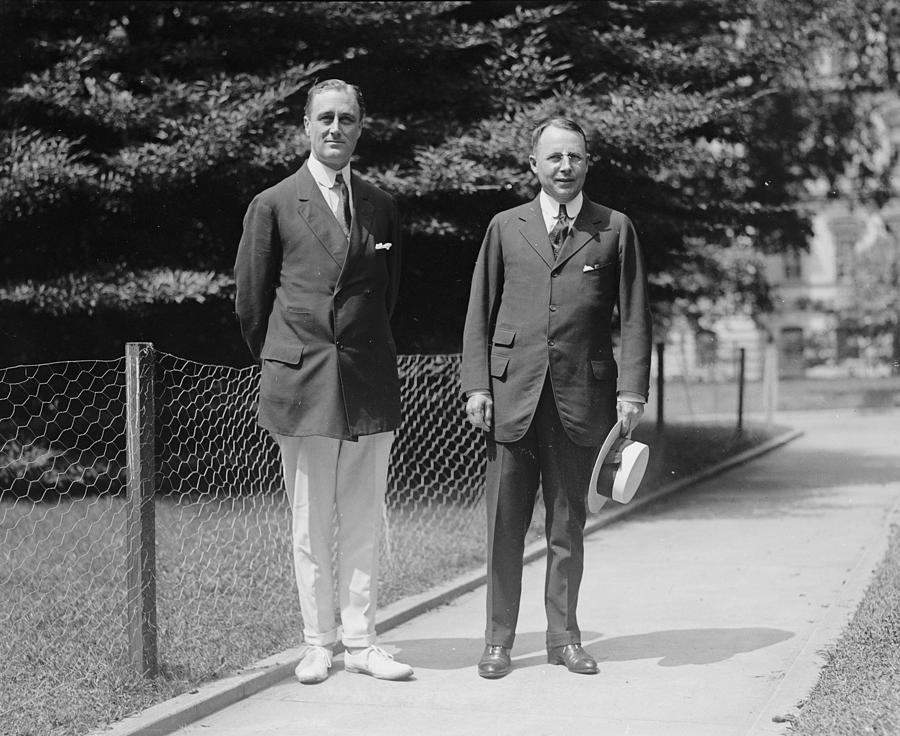 Us Presidents Photograph - James M. Cox Right, 1920 Democratic by Everett
