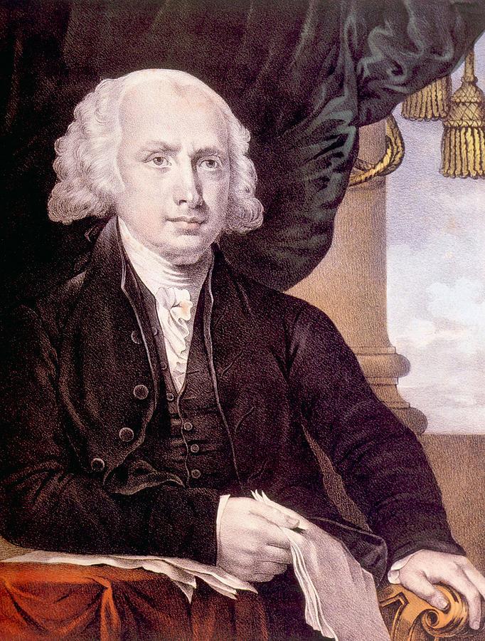 History Photograph - James Madison 1751-1836, U.s. President by Everett