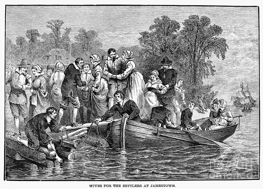 17th Century Photograph - Jamestown: Women by Granger