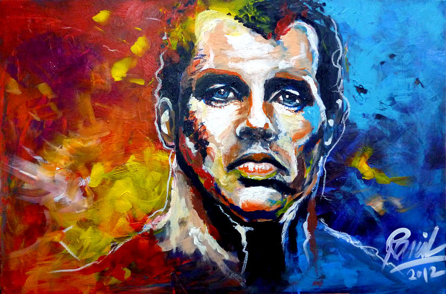 Liverpool Painting - Jamie Carragher Portrait by Ramil Roscom Guerra