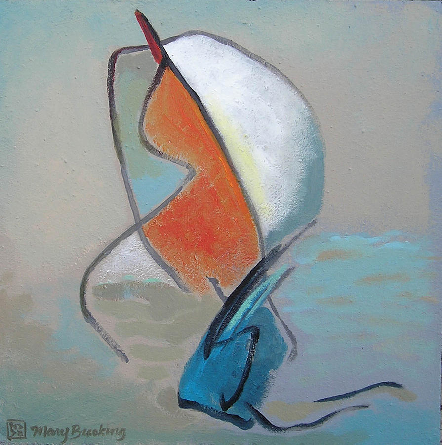 Abstract Painting - Jamies Dreamboat by Mary Brooking
