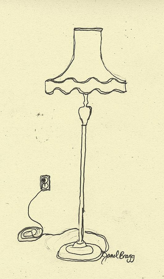 Captivating Lamp Drawing   Janels Floor Lamp By Janel Bragg