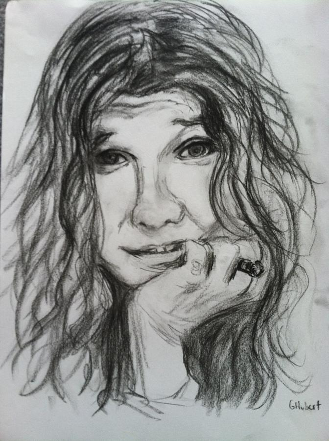 It is an image of Gratifying Janis Joplin Drawing