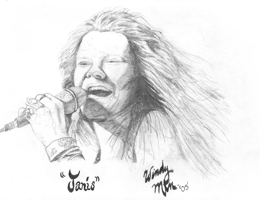 Janis Painting - Janis by Windy Mountain