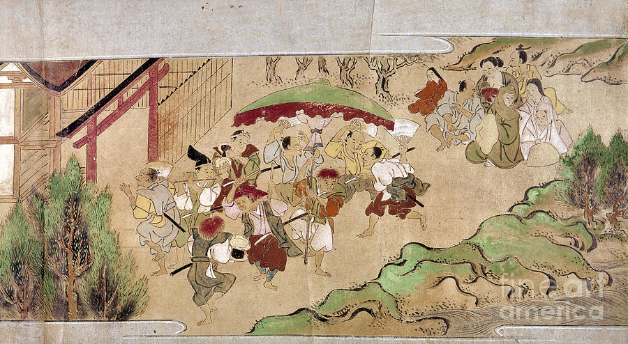 1575 Photograph - Japan: Peasants, C1575 by Granger