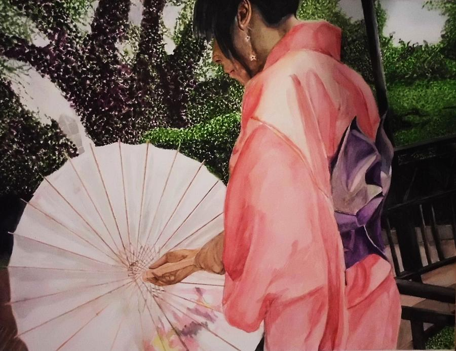Culture Painting - Japanese Based by Kodjo Somana