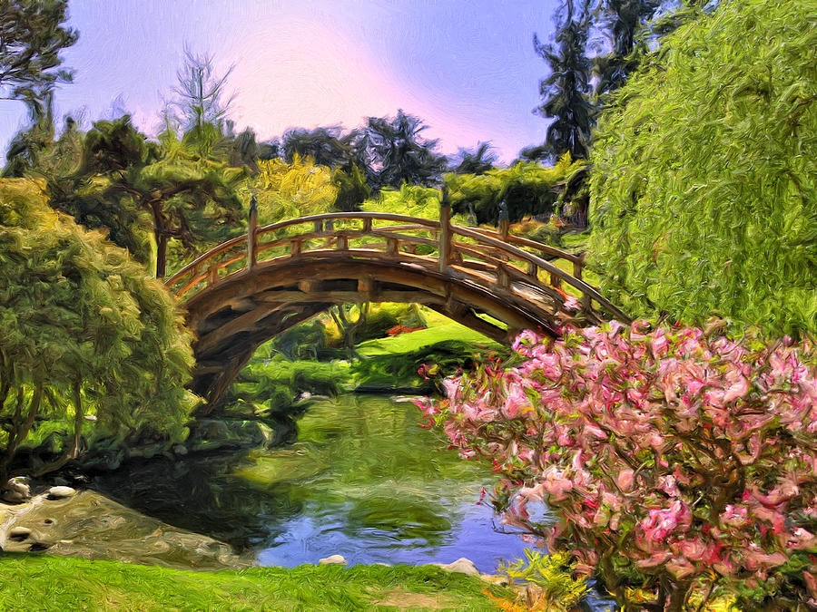 Perfect Japanese Garden Painting   Japanese Garden By Dominic Piperata