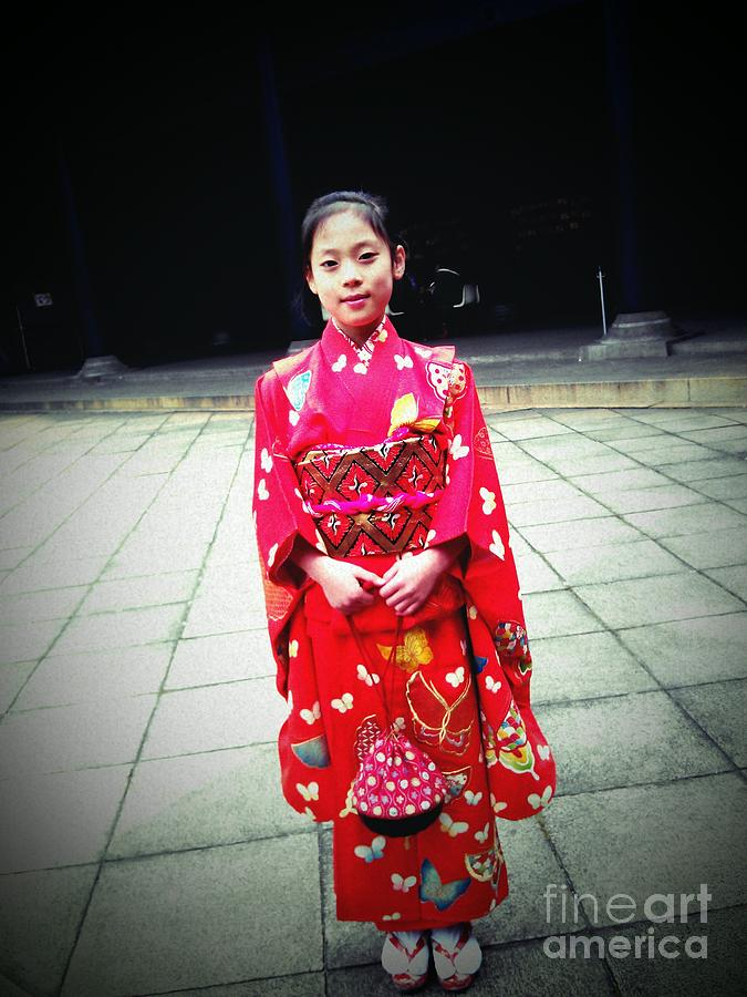 Japanese New Year Photograph - Japanese Girl by Eena Bo