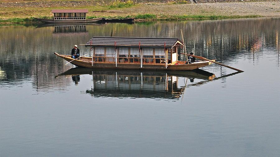 Japanese River Boat Photograph by Deborah Vescuso