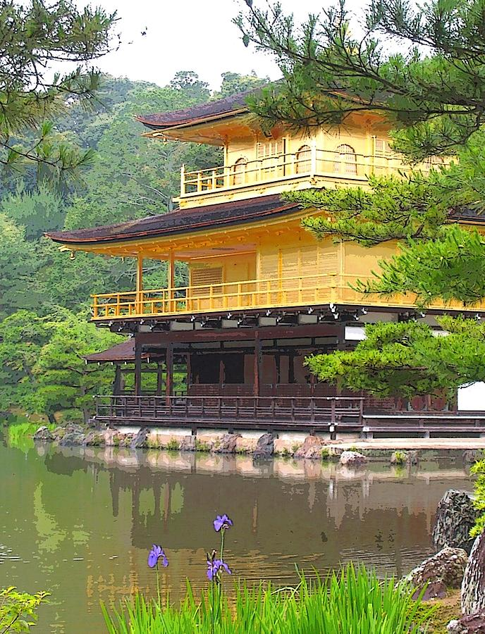 Japanese Photograph - Japanese Temple by Nian Chen