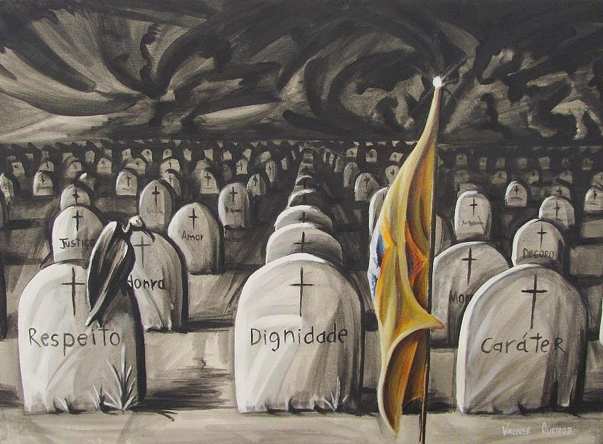 Bandeira Brasileira Painting - Jardim Das Virtudes by Vagner Queiroz