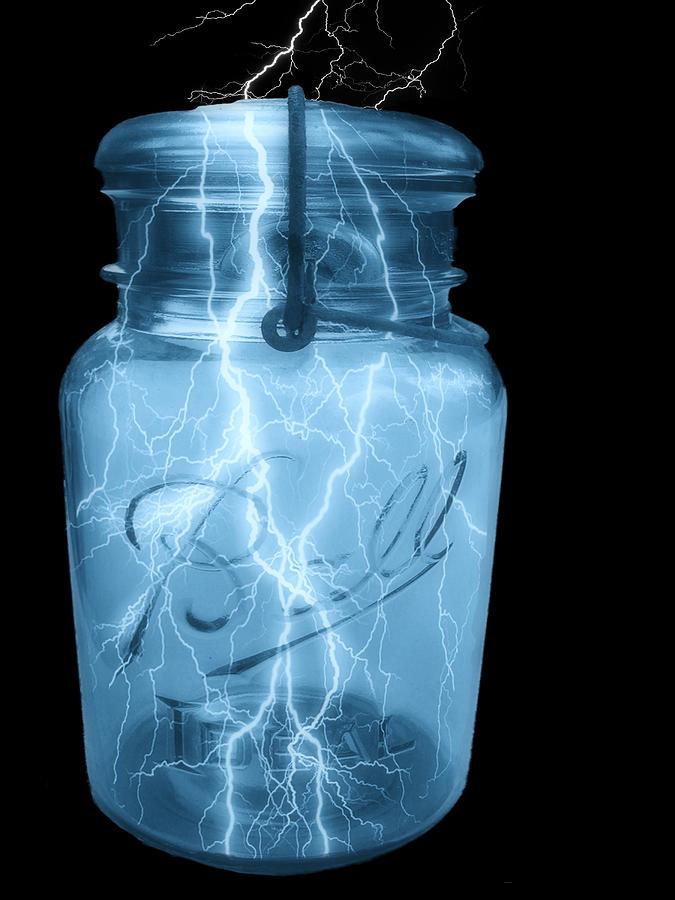Ball Jar Photograph - Jarred Lightning by Jack Zulli