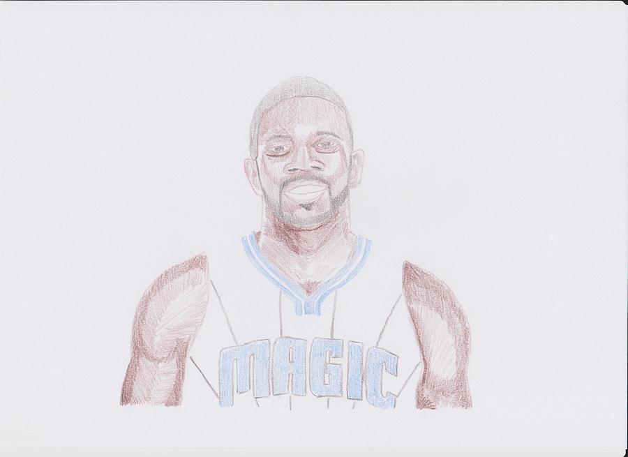 Jason Drawing - Jason Richardson by Toni Jaso