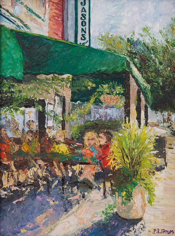 City Scene Painting - Jasons Corner by Pamela Ramey Tatum