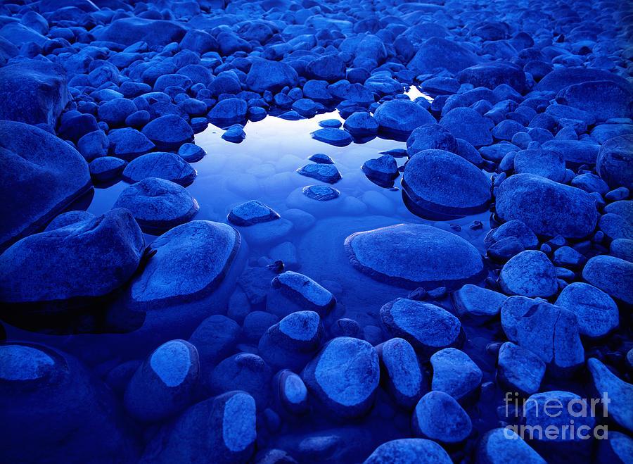 Athabasca River Photograph - Jasper - Blue Boulders by Terry Elniski