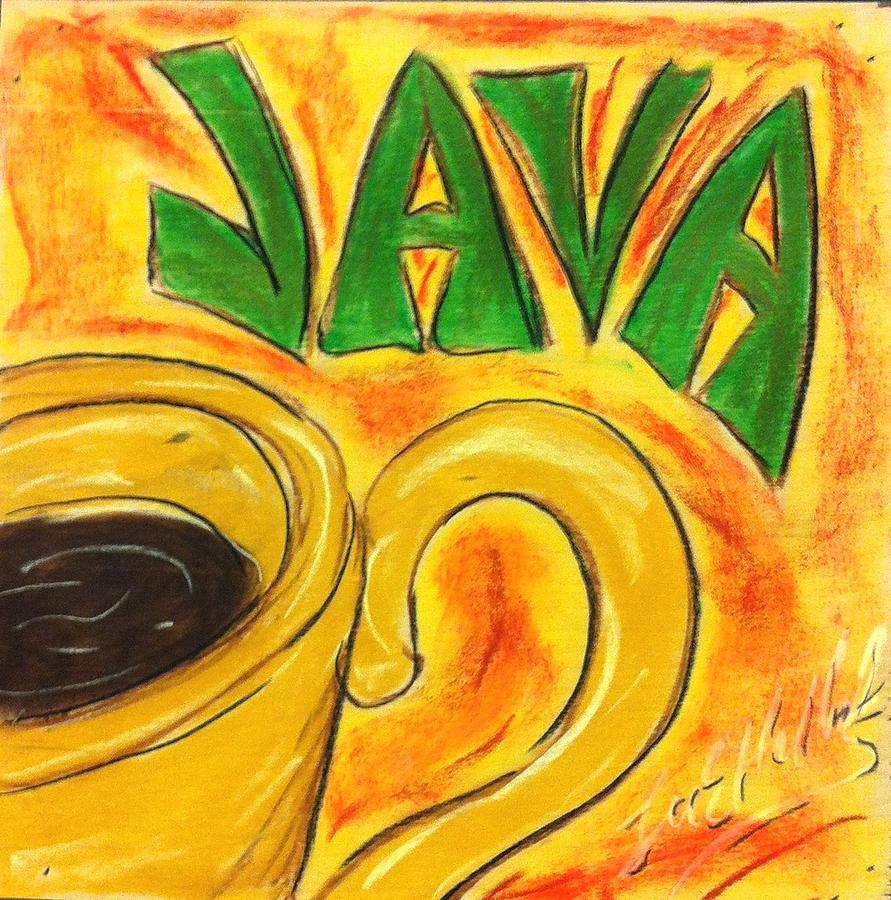 Java Painting - Java by Lee Halbrook