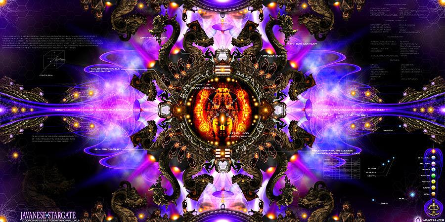 Stargate Digital Art - Javanese Stargate by Chris Varthalamis