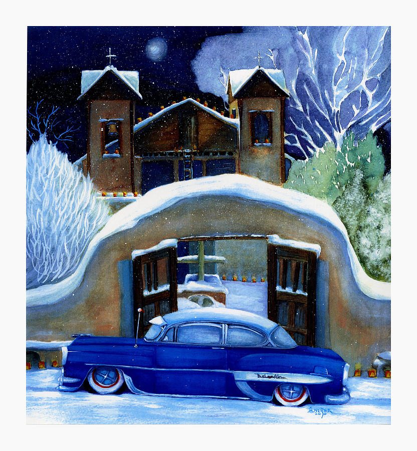 Classic Old Cars Painting - Javiers Devotion by Andrea Camp