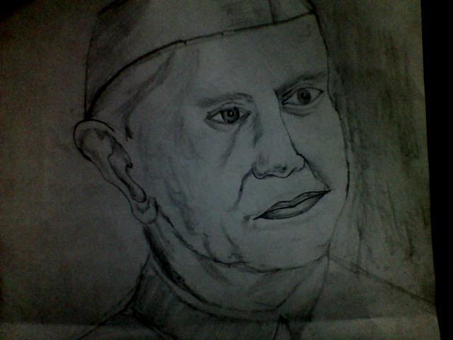 Portrait Drawing - Jawaharlal Nehru by Sivaranjani Kumarasamy
