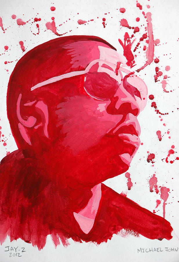 Music Painting - Jay-z by Michael Ringwalt