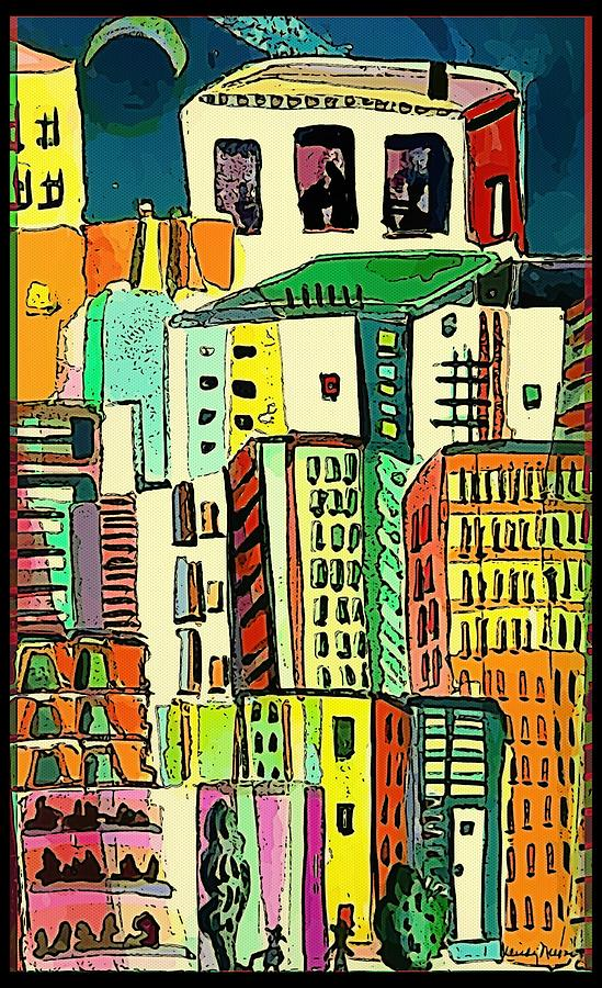 City Painting - Jazz City by Mindy Newman