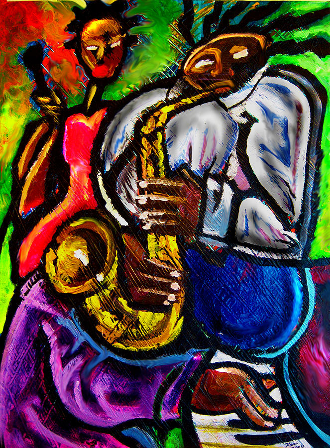 Jazz Painting - Jazz Groove by Kevin McDowell