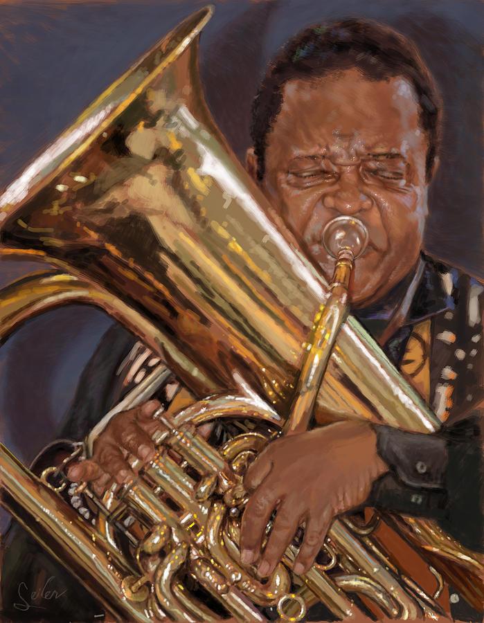 Music Painting - Jazz Legend- Howard Johnson by Larry Seiler