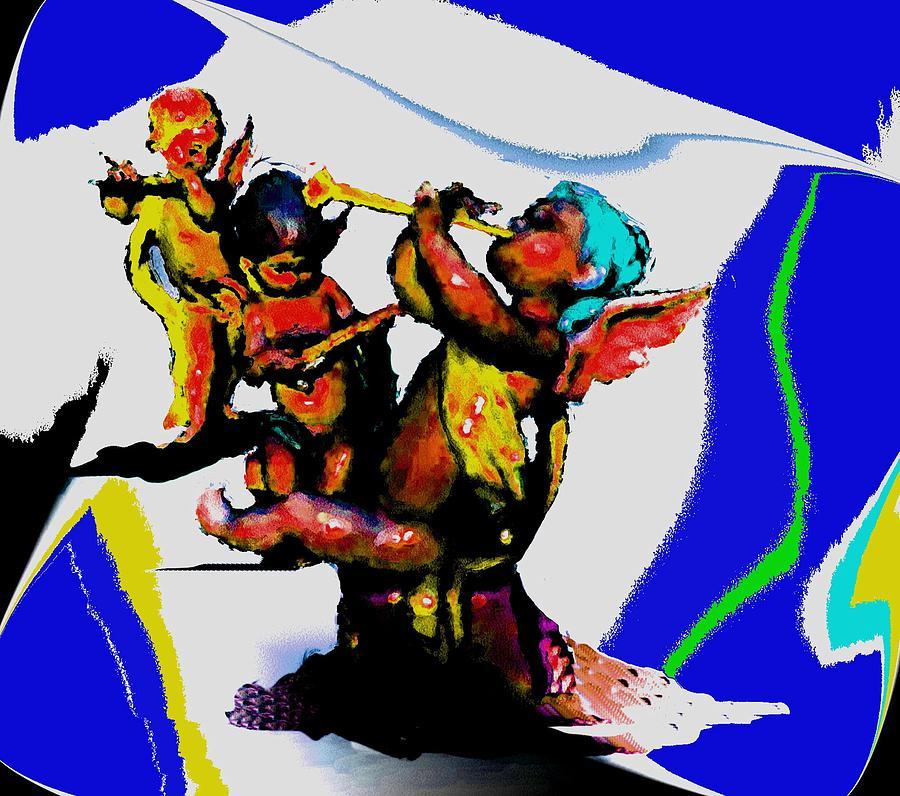 Jazz Digital Art - Jazz Trio At The Cloud Bar by Merlin Neff