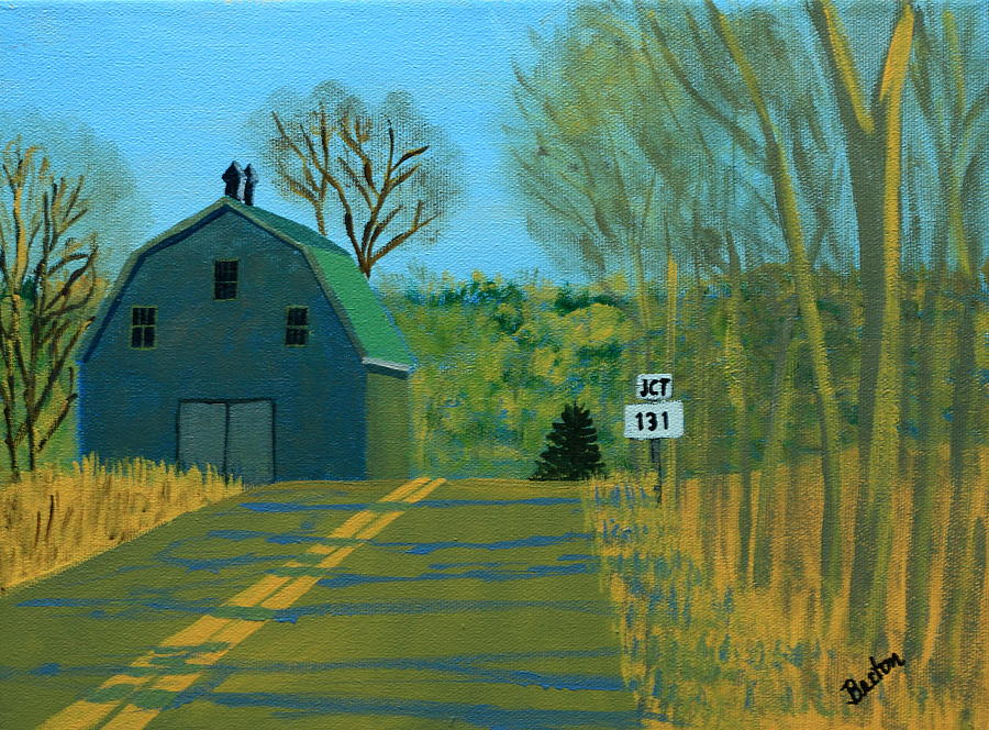 Maine Painting - Jct 131 by Laurie Breton