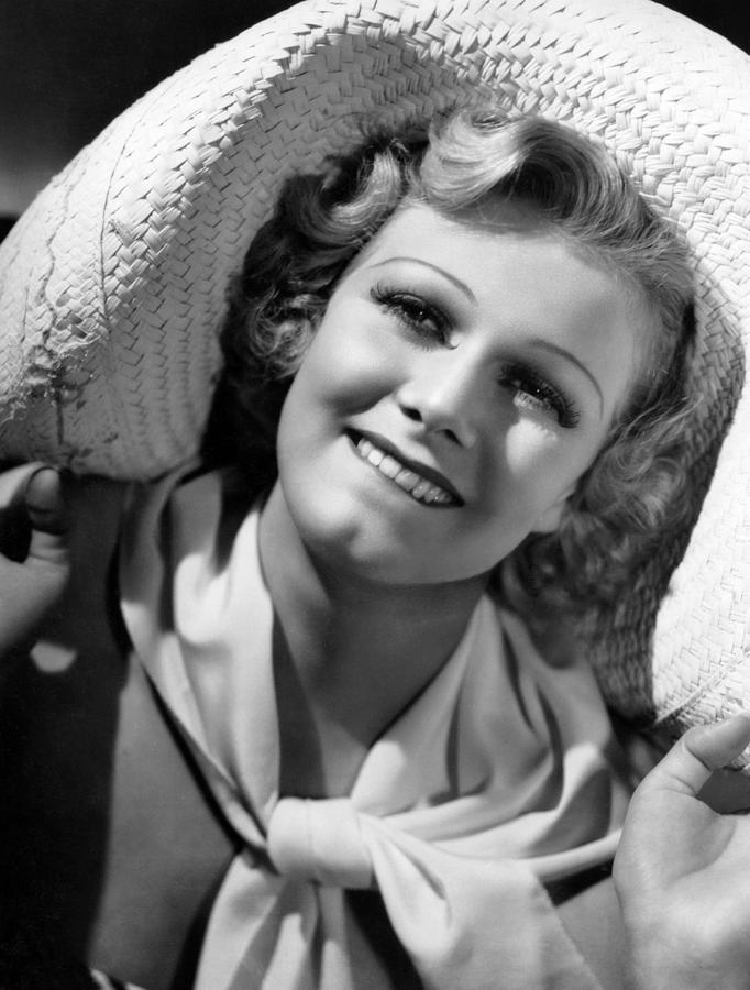 Biting Lip Photograph - Jean Harlow, Ca. 1936-37 by Everett