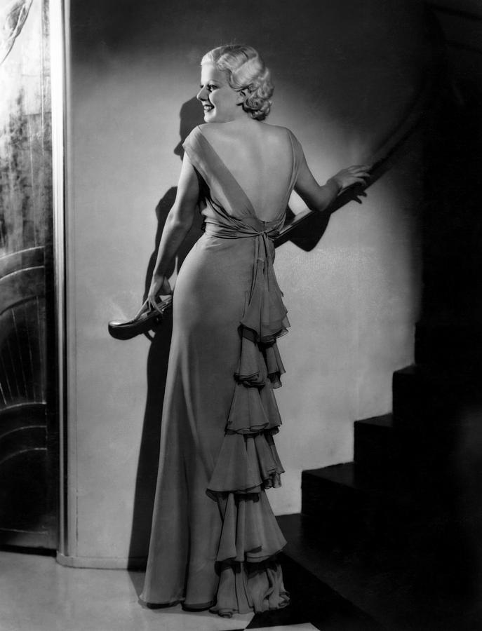 1930s Fashion Photograph - Jean Harlow, Ca. Early-mid 1930s by Everett