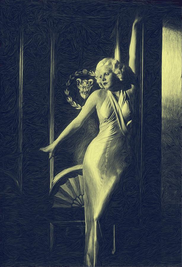 Movie Star Digital Art - Jean Harlowe by Dwayne  Graham
