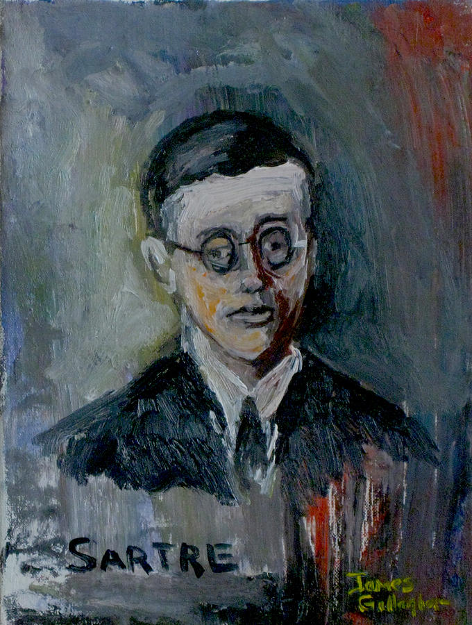Sartre Painting - Jean Paul Sartre by James Gallagher