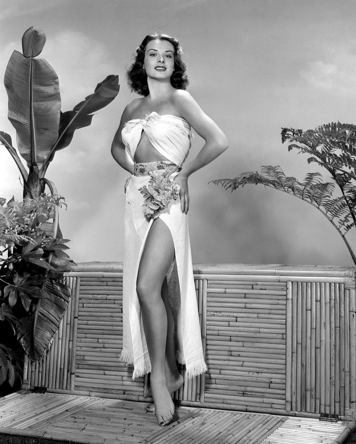 Bamboo Photograph - Jean Peters, Ca. Early 1950s by Everett