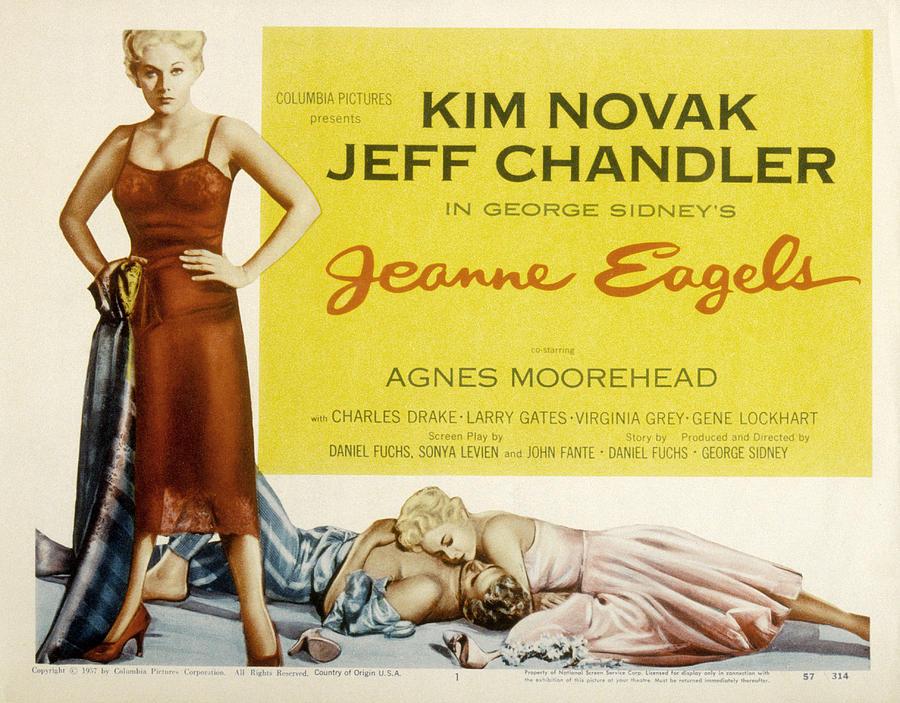 1957 Movies Photograph - Jeanne Eagels, Kim Novak, Jeff by Everett